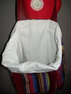 Sac tissu à rayures