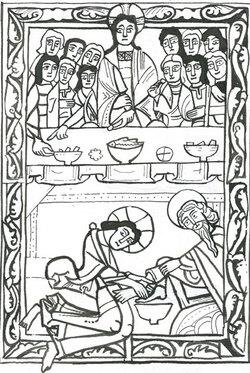 Bricolage pour le jeudi saint : un livre rouleau