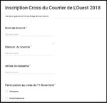 12/10/2018 - Cross du Courrier de l'Ouest le 11 Novembre 2018.