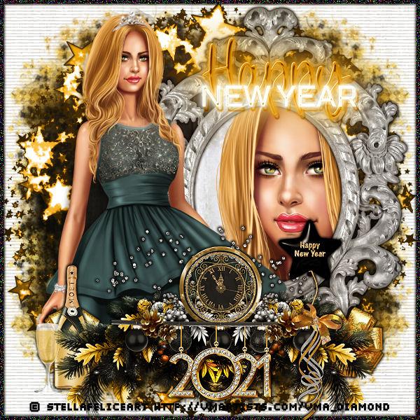 """Tutoriel """"Happy new year 2021"""" de Liligraph chez Lili et Mumu"""