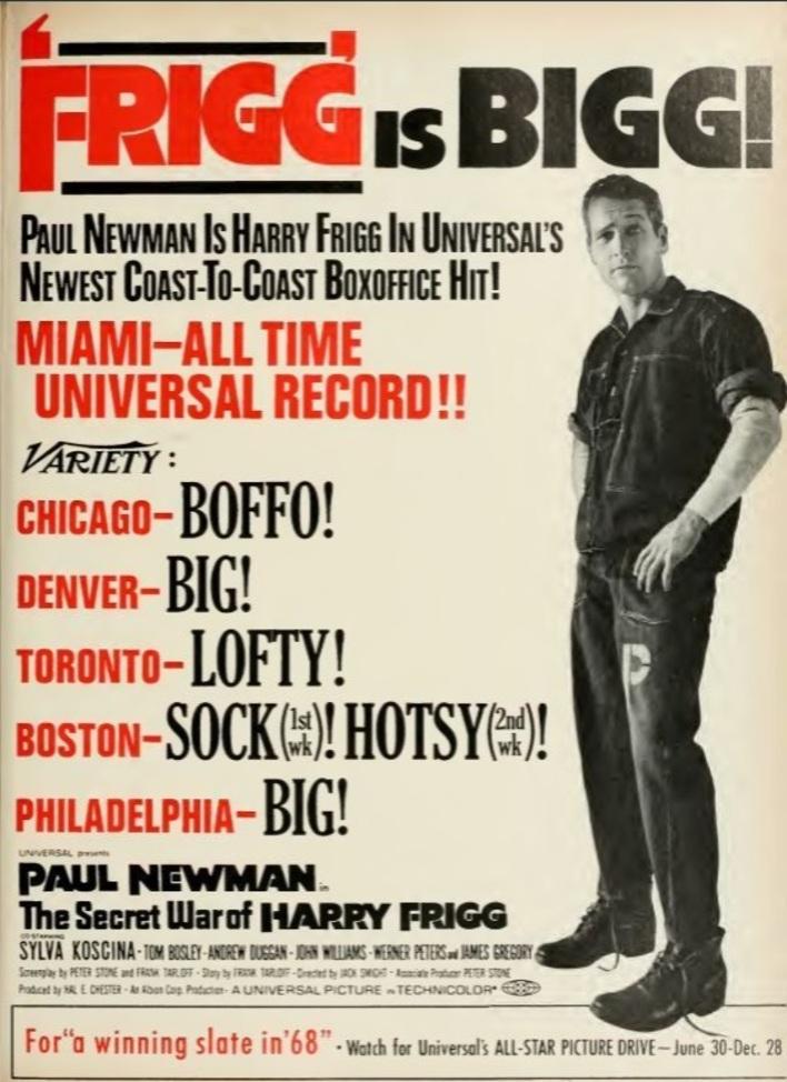 BOX OFFICE USA DU 26 MARS 1968 AU 1er AVRIL 1968