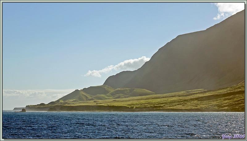 Nous allons faire le tour de l''île Tristan da Cunha en commençant par The Patches (champs de patates)