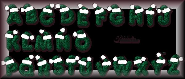 Tube alphabet de Noel 2987