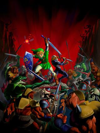 Link and Sheik battle Ganon's hordes - <i>Ocarina of Time 3D</i>
