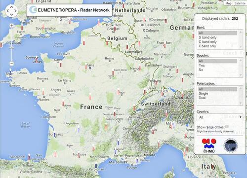 Radars météo en Europe