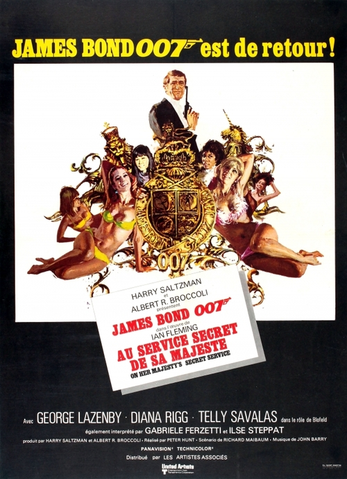 AU SERVICE SECRET DE SA MAJESTE - ON HER MAJESTY'S SECRET SERVICE - JAMES BOND BOX OFFICE 1969