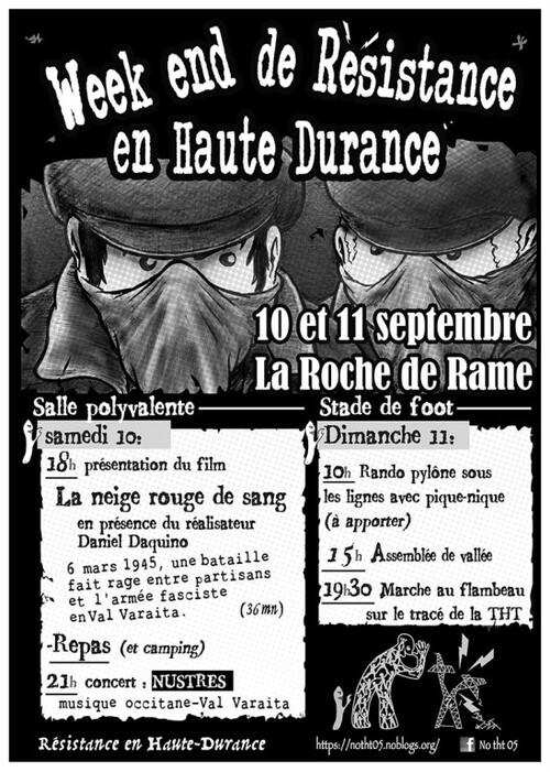 * 10 et 11/09 WE de Résistance NO-THT en Haute Durance