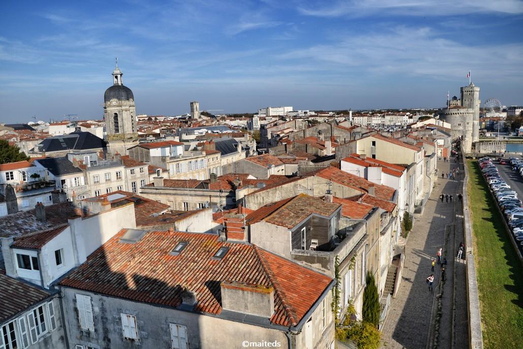 Vue sur les toits de La Rochelle
