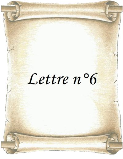 Lettre n°6
