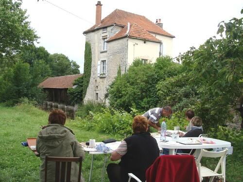 Un stage d'aquarelle chez Alain Prinlein à Marcenay
