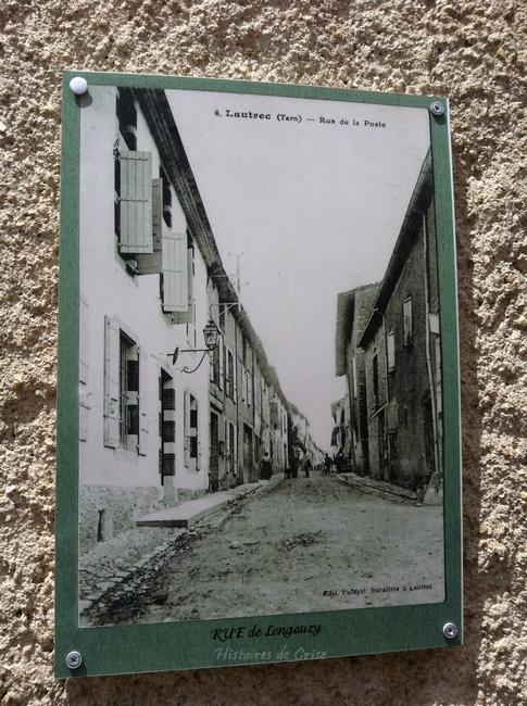 Rue de la poste à Lautrec