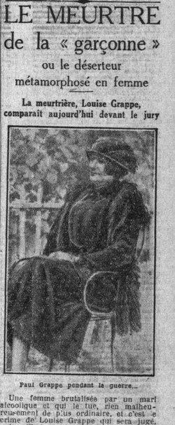 La Garçonne et l'assassin - Histoire de Louise et de Paul, déserteur travesti, dans le Paris des années folles - Le meurtre de la garçonne, décrit par le petit Parisien du 19 janvier 1929