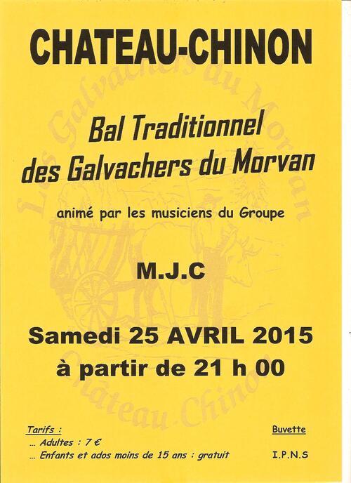 Bal traditionnel des Galvachers du Morvan le 25 avril 2015