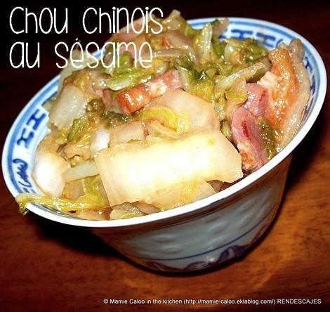 Chou chinois au sésame