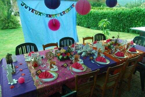 Mes décos de tables d'anniversaires pour ma fille 2