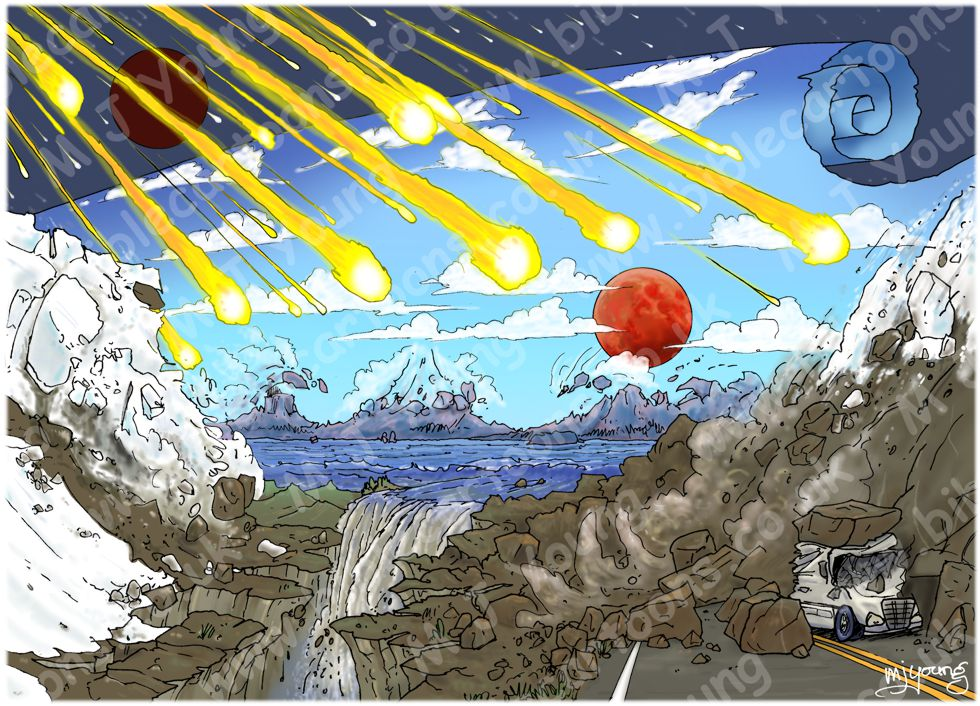 Revelation 06 - The Scroll seals - Scene 06 - Sixth seal Great earthquake (without scroll) 980x706px col
