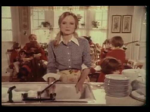Constance McCashin dans une publicité.