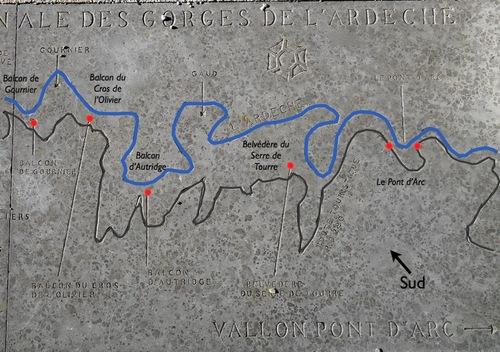 La route des Gorges de l'Ardèche (partie Ouest)