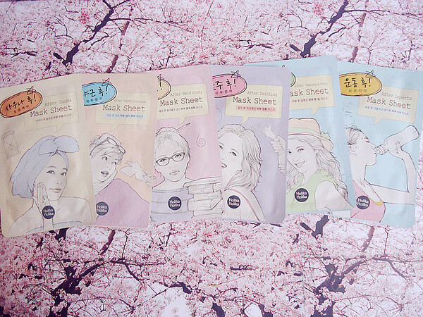 Les masques en tissu BEFORE & AFTER de Holika Holika