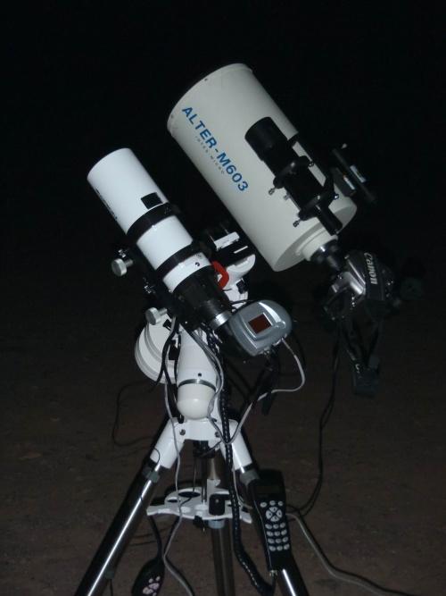 Intes Micro M603 prêt pour l'astrophotographie
