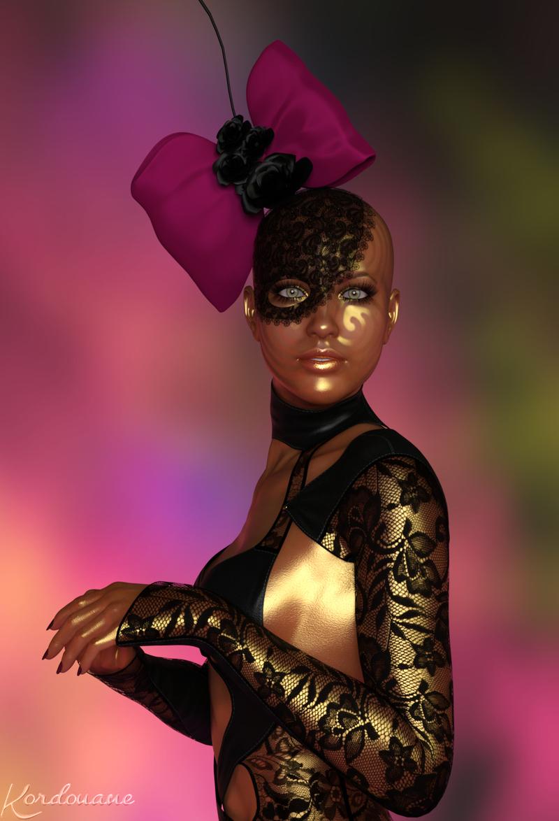 Femme chapeau original (fantasy-image)