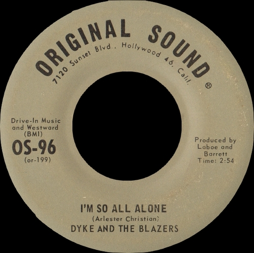 "Dyke & The Blazers : Album "" Dyke's Greatest Hits "" Original Sound Records OSR LPS 8877 [ US ]"
