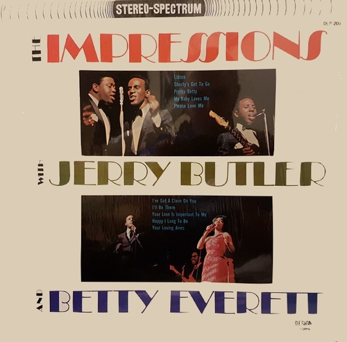 "The Impressions With Jerry Butler & Betty Everett : Album "" The Impressions With Jerry Butler & Betty Everett "" Design Records DLP-201 [ US ] en 1965"