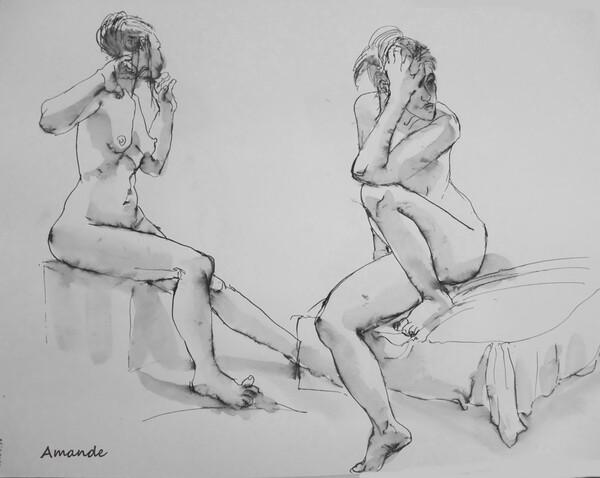 Mardi - Deux poses