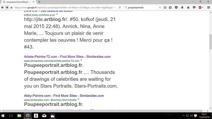 """Capture présence """"poupeeportrait.artblog.fr"""" sur page de SimilarSites"""
