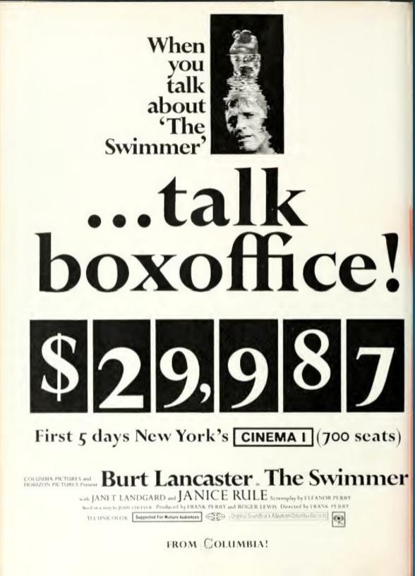 BOX OFFICE USA DU 21 MAI 1968 AU 27 MAI 1968