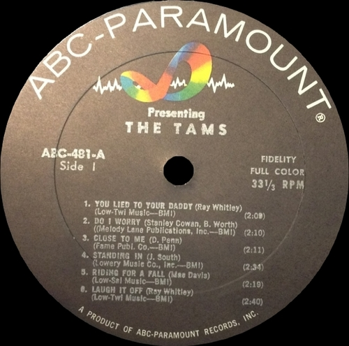 "The Tams : Album "" Presenting "" ABC-Paramount Records ABCS-481 [ US ]"