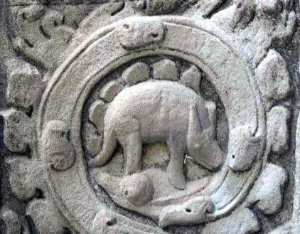 LE STEGOSAURE D'Angkor Vat