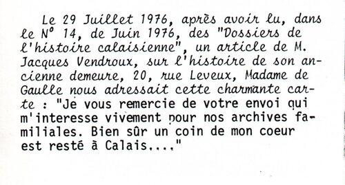 Souvenirs de Mme De Gaulle