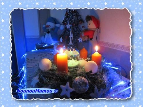 Et voilà les 4 bougies brillent sur la couronne de l'avent