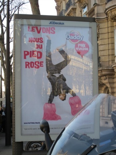 affiche Daddy sucre rose pied