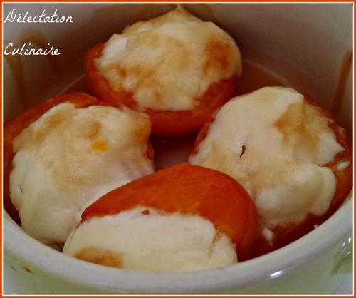 Gratin d'abricots, ricotta et miel ; abricotta !