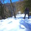 Progression avec les raquettes à neige