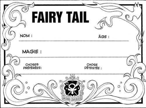 Carte Fairy Tail