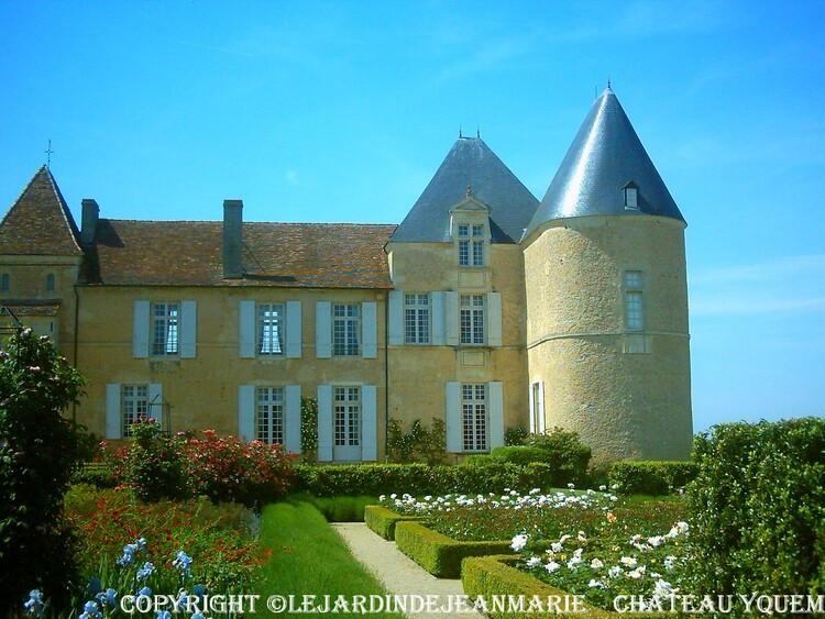 les jardins du Château d'Yquem a  Sauternes (Gironde)