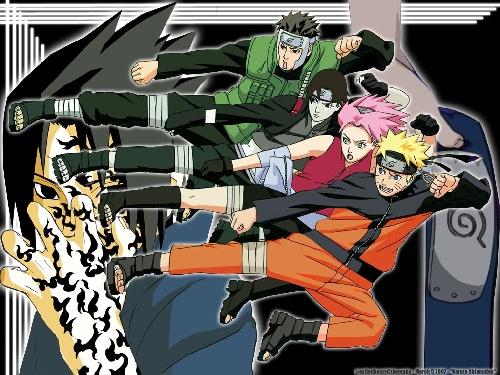 Yamato, Sakura, Saï et Naruto