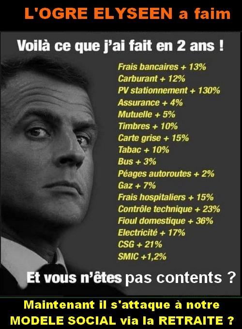 """Les dossier du poissonnier avec """" l'ogre Elyséen a faim""""."""