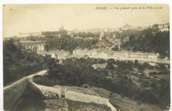 La rue de l'Abbaye et le jardin de l'Hôpîtal