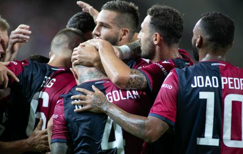 maillot Serie A Cagliari Calcio Macron 2019-2020