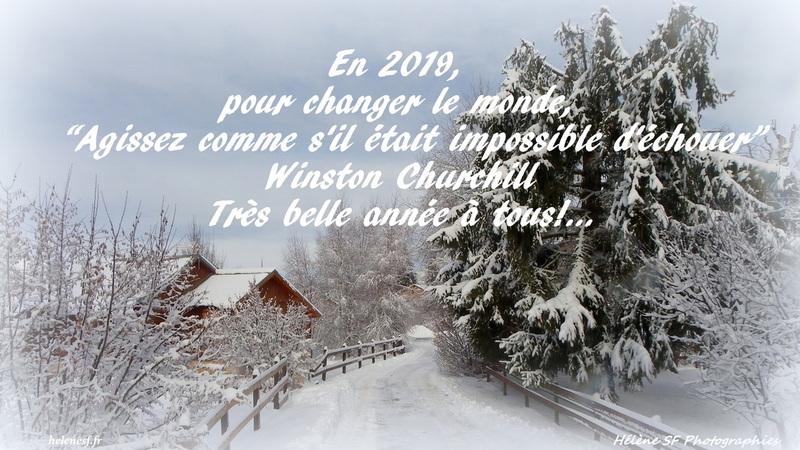 à toutes et tous,  une bonne année 2019