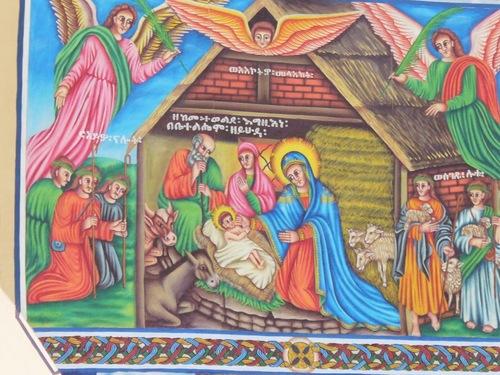 les peintures intérieurs de la cathédrale moderne