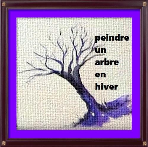 Dessin et peinture - video 2707 : Comment peindre l'arbre des 4 saisons (Hiver) ? - aquarelle.