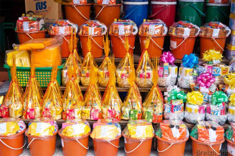 marché de Sukhothai - Offrandes