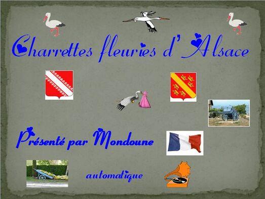 Charrettes fleuries d'Alsace