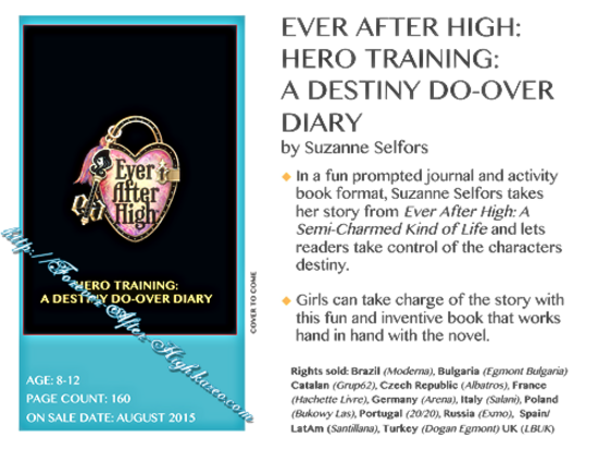 ever-after-high-suzanne-selfors-next-book-hero-training-a-destiny-do-over-diary-info