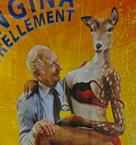 Orangina biche client affiche
